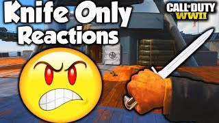 THE BEST KNIFE ONLY REACTIONS YET 😂!! (Epic COD WW2 Rage Reactions)