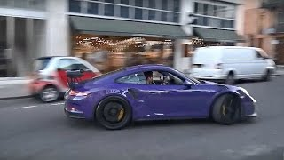 Porsche 991 GT3 RS 'drive like you stole it'! Crazy drifts and burnouts in the city