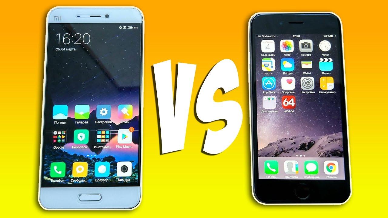 xiaomi mi5 vs iphone 6 español