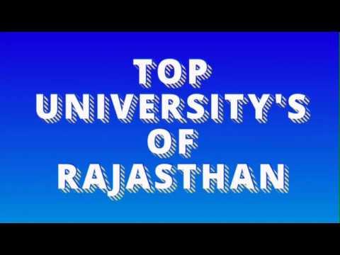 Top Universitys in Rajasthan( राजस्थान के शीर्ष विश्व विद्यालय )