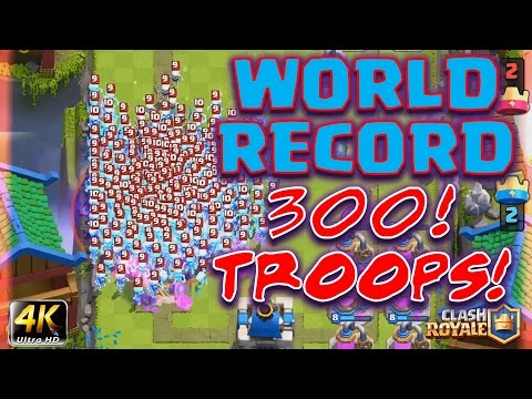 Clash Royale - Most troops of ANY kind EVER! (300! Game crash?)