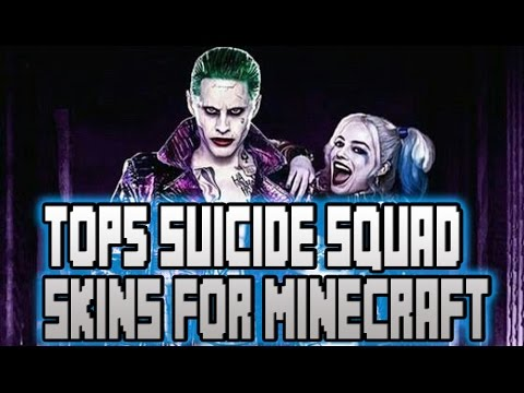 TOP SUICIDE SQUAD SKINS FOR MINECRAFT YouTube - Skins para minecraft pe joker