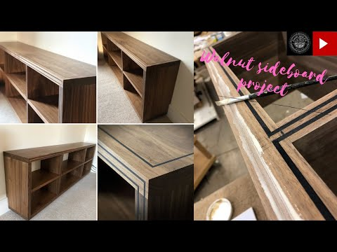 wooden sideboard project! (with inlay detailing)