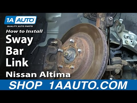 How To Install Replace Front Sway Bar Link 2002-06 Nissan Altima