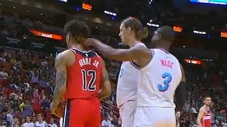 Dwyane Wade TAUNTS KELLY OUBRE JR BY POKING HIM THEN GETS A TECHNICAL FOUL!!!