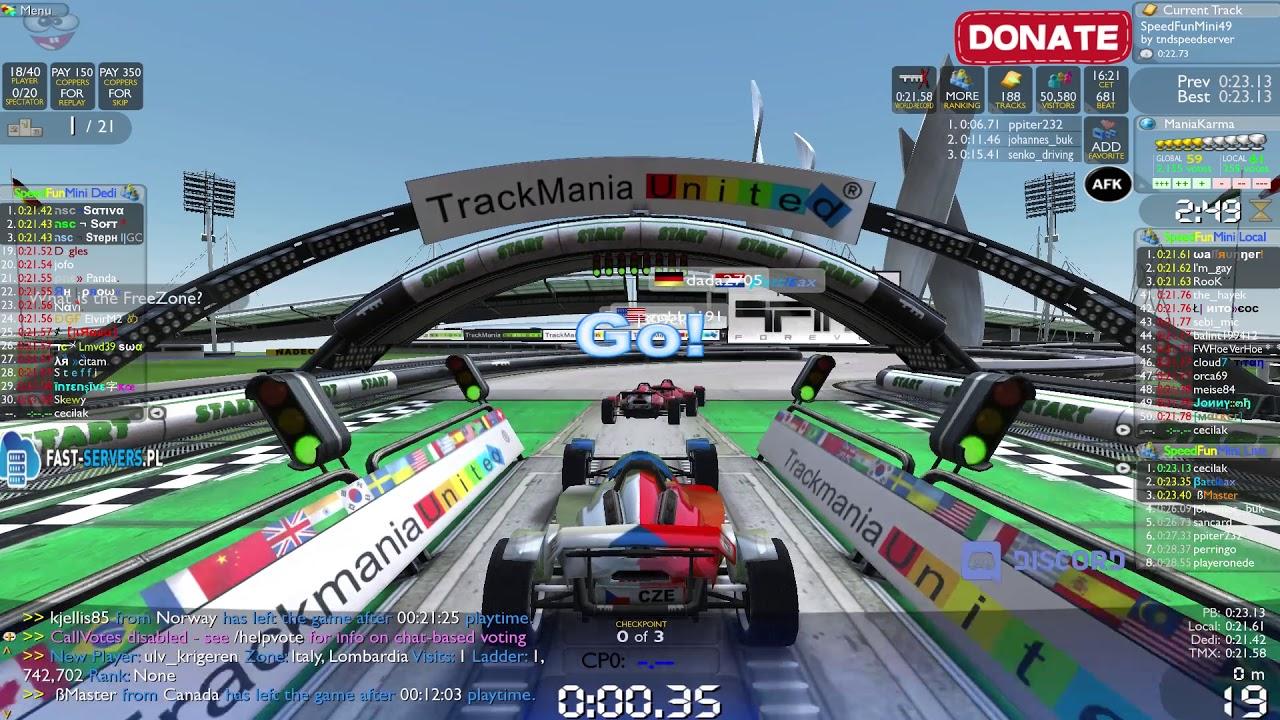 TrackMania Nations Forever cocok buat kamu yang pengen main Game Ringan Online PC