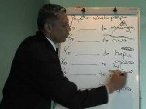 Maori Language - pepeha-example