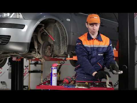 How to replace rear suspension front upper arm on VW PASSAT B5+ TUTORIAL | AUTODOC