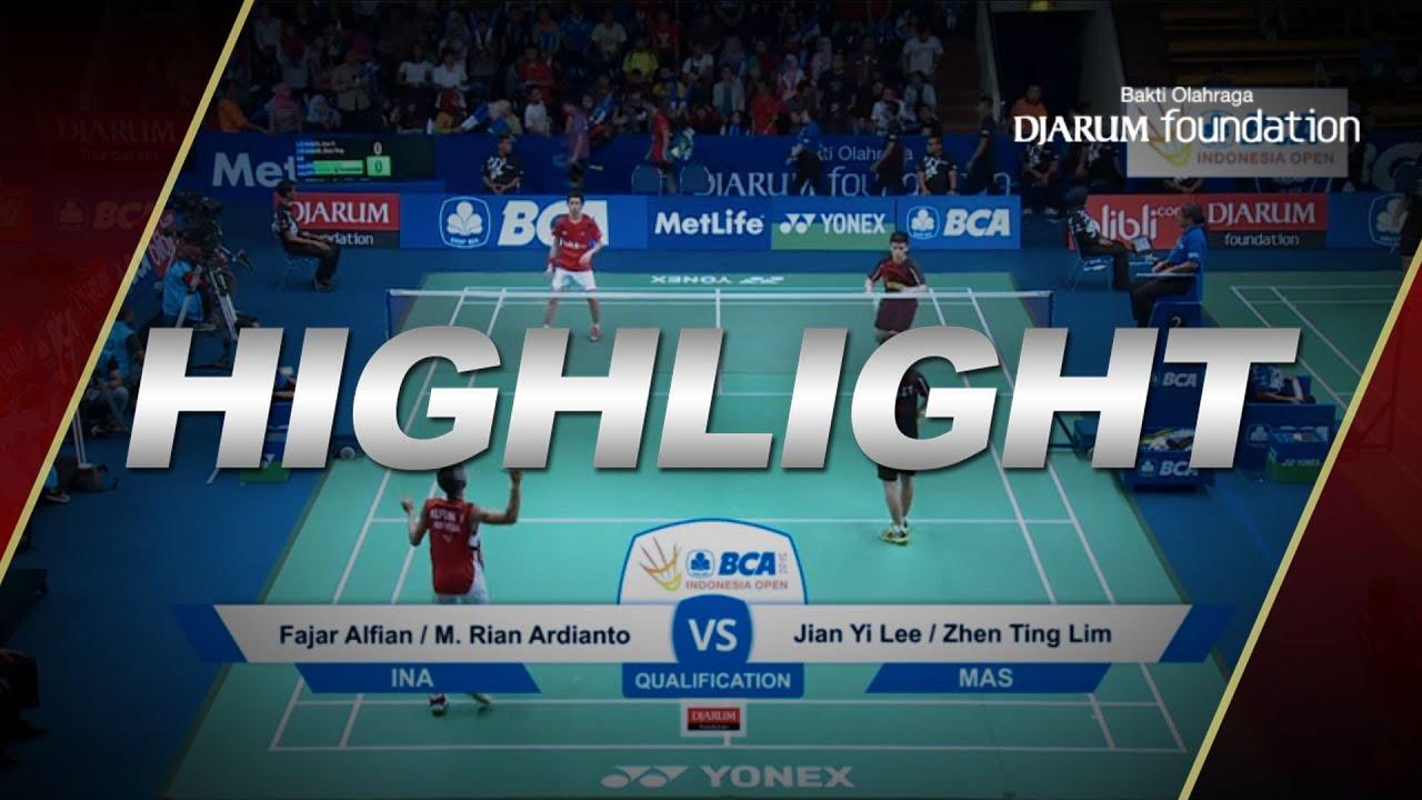 Fajar Alfian M Rian Ardianto INA VS Jian Yi Lee Zhen Ting Lim