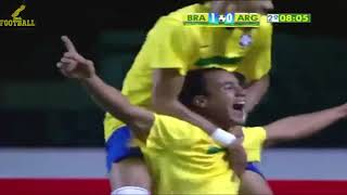 Soccer Skllis - When Ronaldinho and Neymar Destroyed  Argentina - 2017 Soccer Skllis