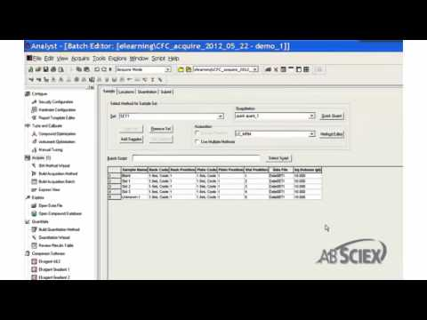 Submitting and Starting Sample Batch in Analyst® Software
