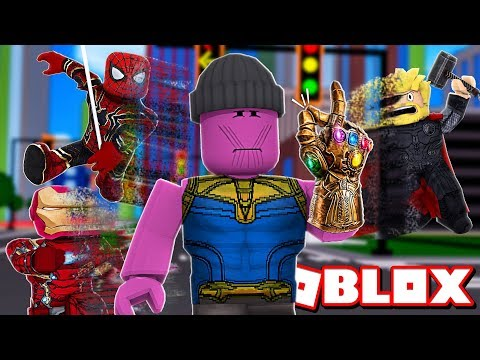 Destroying Everything With The Infinity Snap In Roblox Super