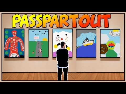 Passpartout - PAINTING VIDEO GAMES - The Ultimate Artist Simulator - Let's Play Passpartout Gameplay