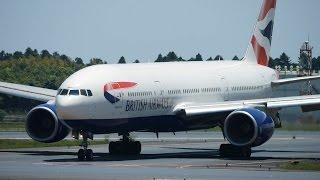 British Airways Boeing 777-200ER G-YMMA Landing at NRT 34R