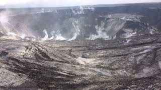 Kilauea volcano: Crater collapse & summit explosion (USGS footage June 19, 2018)