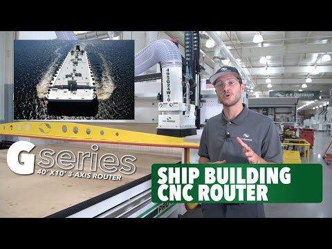 Ship Building CNC Router | 40' X 10' 3-Axis C.R. Onsrud G-Series -  Onsrud HQ