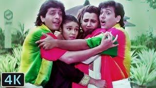 'O Lal Dupatte Wali' Full 4K Video Song - Govinda, Chunky Pandey, Rageshwari | Kumar Sanu | Aankhen