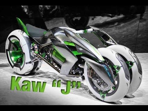 Kawasaki「J」3 Wheel Electric Vehicle Concept - YouTube