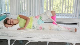 Repeat youtube video Emily Accident and Double HipSpica Plaster Cast