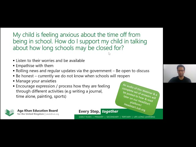 Secondary Webinar - Supporting my Child's Wellbeing - AKEB