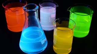 What is Fluorescence? Detailed Explanation. Amazing Glowing liquid.