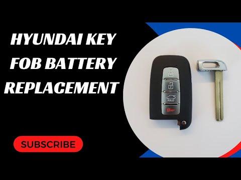 Hyundai Key Fob Battery Replacement (Elantra, Genesis, Equus, Sonata, Azera & More)