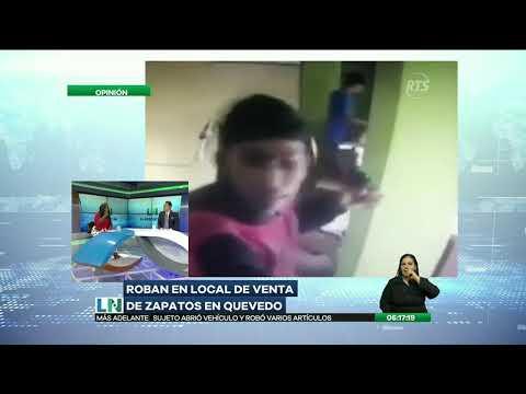 Tres sujetos asaltaron una zapatería en Quevedo