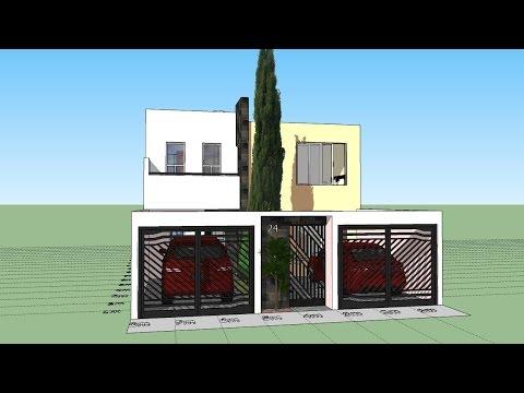 Casa ejemplo p terreno 8x20 m trazzos g doovi for Como hacer mi casa en 3d