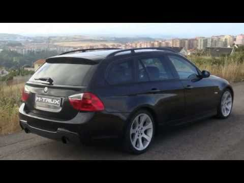 bmw e91 335d look m trux exhaust youtube. Black Bedroom Furniture Sets. Home Design Ideas