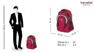 Обзор рюкзака Travelite, серия Basics TL096245-10