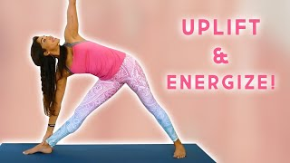 Yoga to Boost Energy & Mood! 15 Minute Yoga Class, Uplift, Energize, Mood Boost, Yoga with Myra