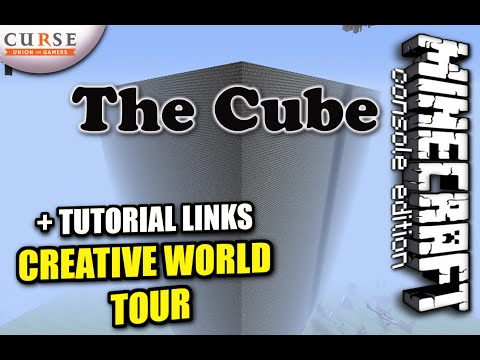 Minecraft PS4 - THE CUBE CREATIVE WORLD TOUR + Tutorial links ( PS3 / XBOX / VITA )  Update