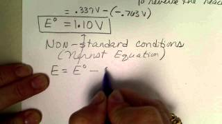 Calculate the cell potential at standard and then at non-standard conditions