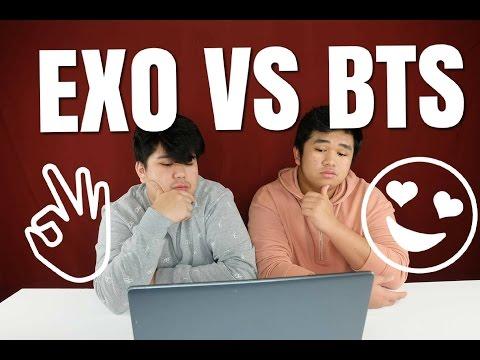 REACT TO KPOP ( BTS vs EXO )