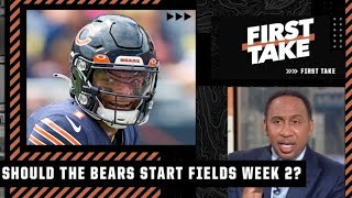 Stephen A. isn't comfortable with Justin Fields starting Week 2 vs. the Bengals | First Take