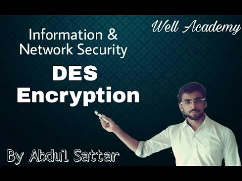Information & Network Security Lecture — DES simple Explanation (Eng-Hindi)