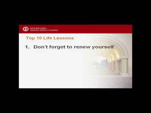Top 10 Life Lessons (Last Lecture Series)