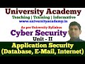 L9: Application Security | Database Security| Email Security| Internet Security in hindi