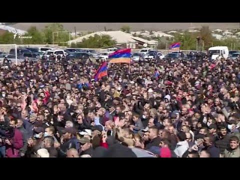 Акция грузинских армян в Ахалкалаки