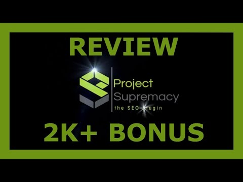 [Project Supremacy] Review and 2K+ BONUS: [Project Supremacy] Review and 2K+ BONUS http://www.netmarketing360.com/projectsupremacy  Can't Rank Your Website In 2016? Discover The Project Supremacy