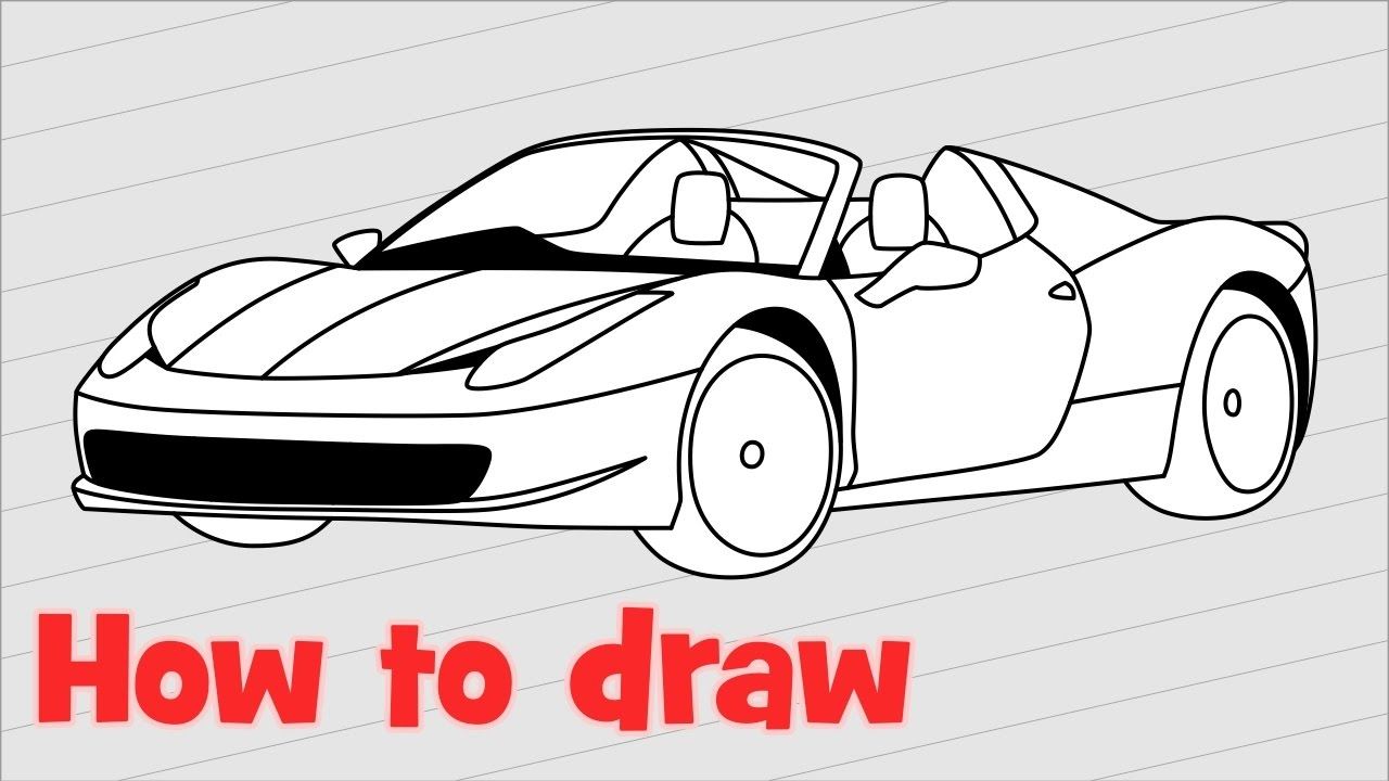 how to draw a car ferrari 458 versi on the spot. Cars Review. Best American Auto & Cars Review