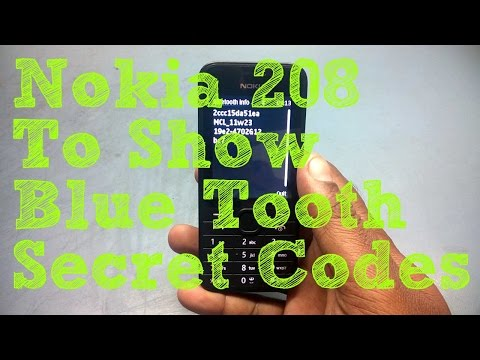 Nokia 208 To Show Blue Tooth Secret Codes