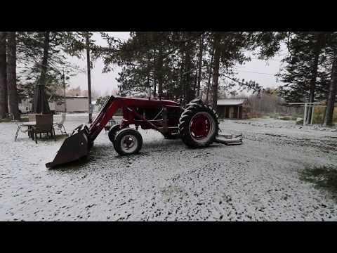 First Snowfall Of The Season. The Farmhouse.