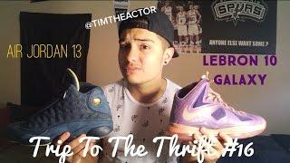 Trip To The Thrift #16 Air Jordan 13! Lebron 10 Galaxy! Pawn Shop! Vintage Spurs! Thumbnail
