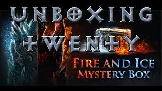 [3.1] Path of Exile - Unboxing 20 Fire & Ice Mystery Boxes!