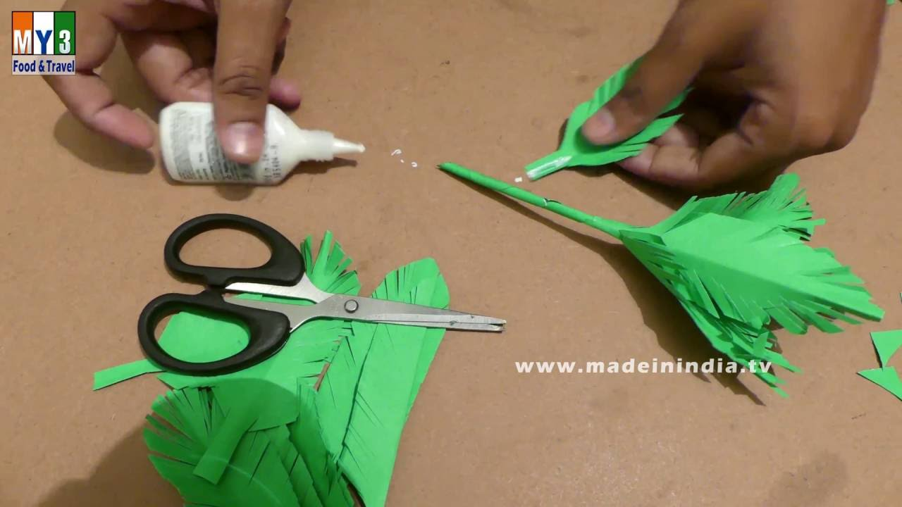 how to make a paper tree paper art projects how to make it made in india youtube. Black Bedroom Furniture Sets. Home Design Ideas