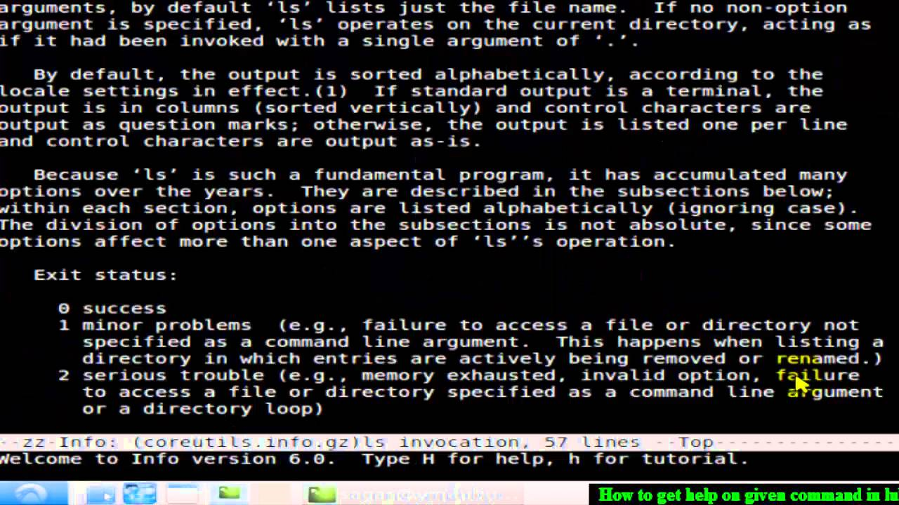 How to get help on commands in Linux