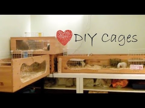 Diy critter bin cage doovi for Diy guinea pig hutch