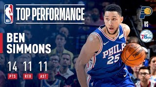 Video Ben Simmons Scores Triple-Double (14/11/11) vs. Pacers | November 3, 2017 download MP3, 3GP, MP4, WEBM, AVI, FLV November 2017