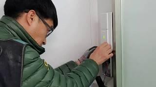 목동사무실 유리문 출입통제시스템  설치(배선작업,인터폰…
